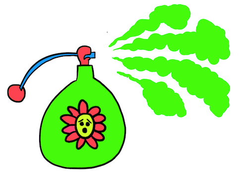 Drawing of perfume bottle