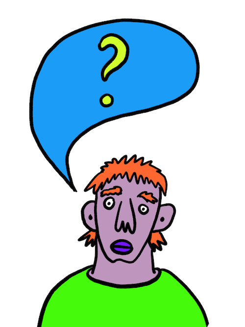 Drawing of a person asking a question