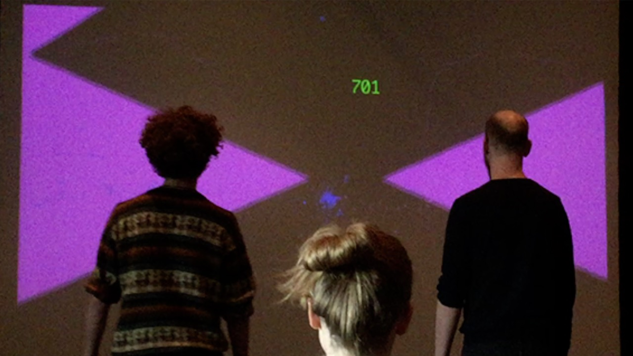 Closer</span><br>A cooperative, experimental game leveraging computer vision to use two people's movie bodies as a shared, single controller.